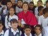 7 red scarf w kids
